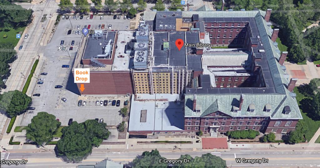 Main Library Bookdrop Location