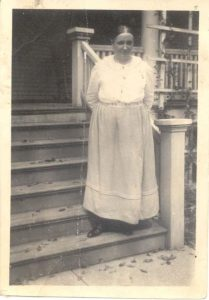 Marion E. Sparks in Front of House
