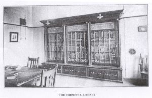 The Chemical Library in Harker Hall (pre-April 1916)