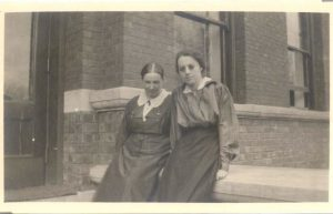 Marion E. Sparks and an Unknown Woman