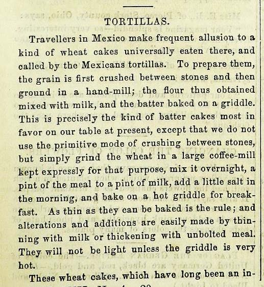"""Tortillas."" Lady's Friend (April, 1871): p. 293"