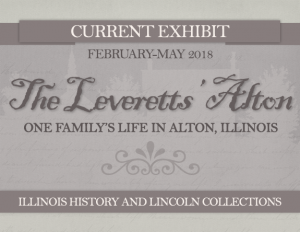"sign for ""The Leveretts' Alton"" exhibit"
