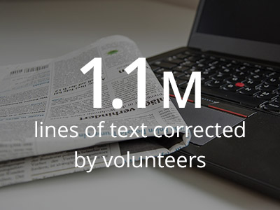 1.1 million lines of text corrected by volunteers