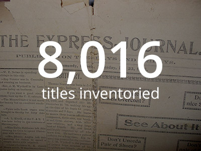 We inventoried 8,016 newspaper titles