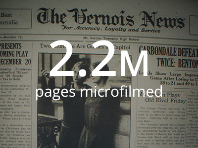 We microfilmed 2.2 million pages of newsprint