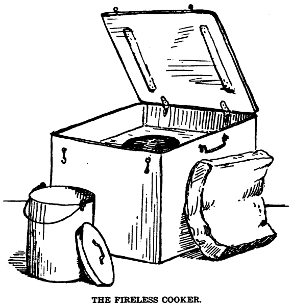 sketch of haystove with haypail