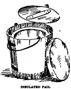 sketch of hay pail