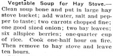 recipe for vegetable soup in hay stove