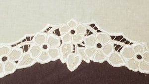 picture of white floral cutwork