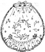 sketch of embroidered apron