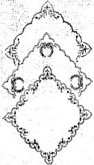 sketch of 3 embroidered handkerchiefs