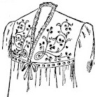 sketch of embroidered nightgown