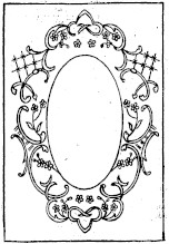 sketch of embroidered photo frame