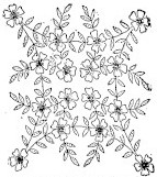 sketch of embroidered pillow topper