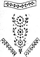 sketch of embroidered shirtwaist pattern