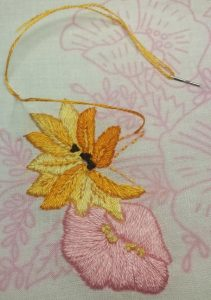 picture of embroidered flowers