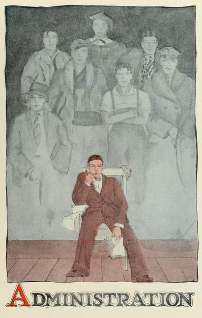 Administration Section Illustration from 1926 Illio