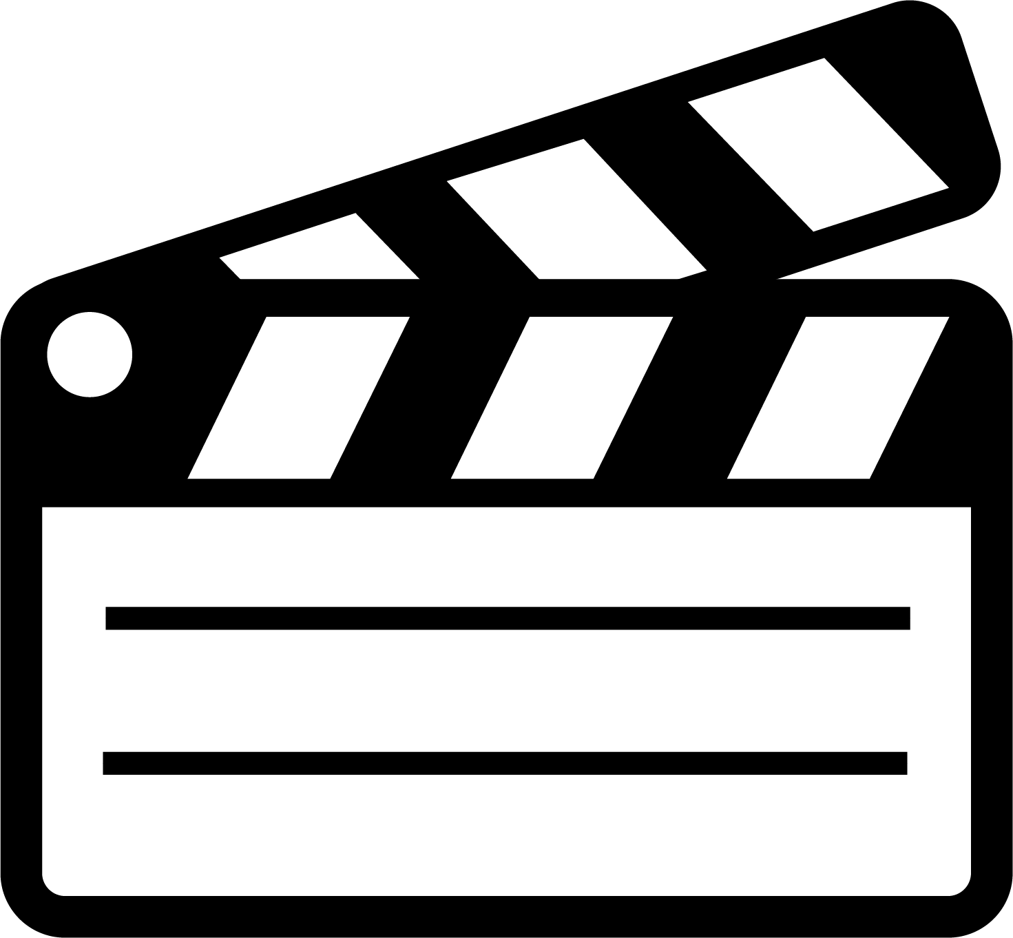 video clapper icon
