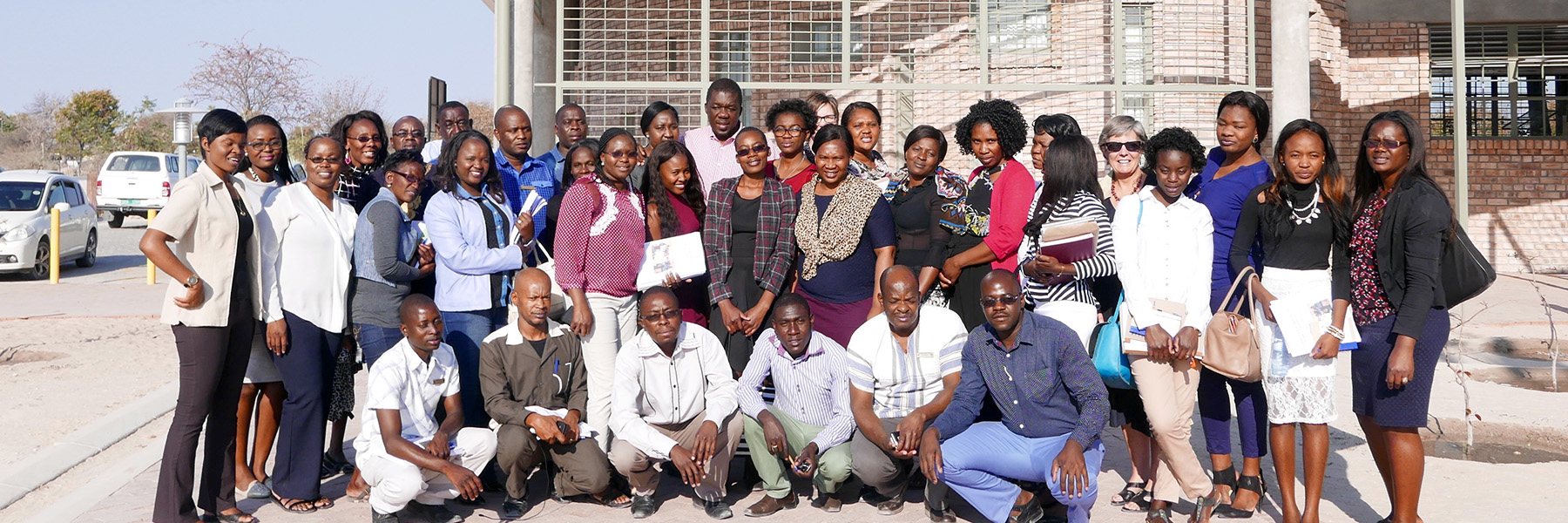 A Group Of SILL Participants In Ohangwena, Namibia.