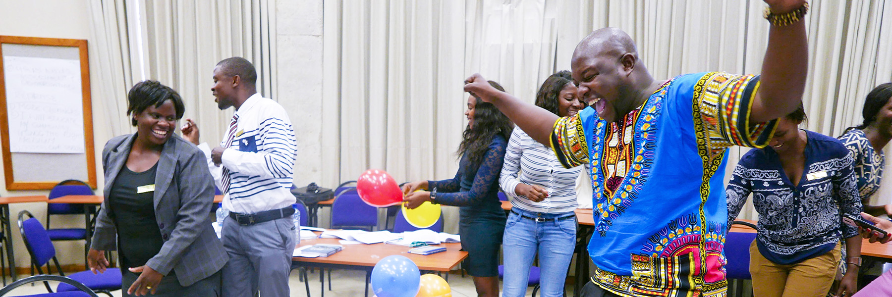Participants Celebrating In Oshana, Namibia