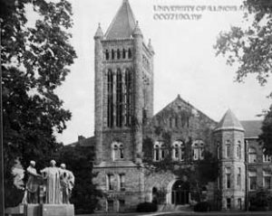 Altgeld Hall East Side Circa 1905, Photo Courtesy of Illinois Archives