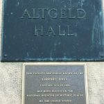 Altgeld Hall National Register of Historic Places Plaque, Photo Courtesy of Becky Burner