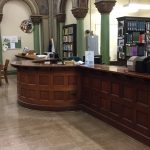 Circulation Desk, Side View, Courtesy of Becky Burner
