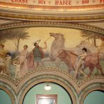 """Arcadia"" Dedicated to the College of Agriculture Mural in Rotunda, North Side"