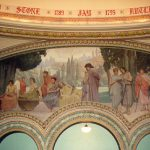 """The Sacred Wood of the Muses"" Dedicated to the College of Literature and Art Mural in Rotunda, South Side"