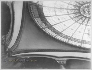 Original Stained Glass Dome, Courtesy of Illinois Archives
