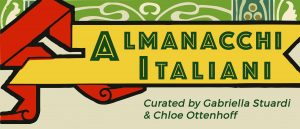 Banner for the Almanacchi Italiani exhibit