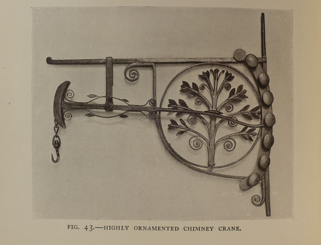 An ornamental chimney crane