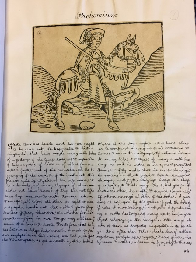An image from the book of a man riding a horse