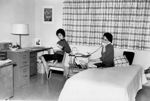 4H House women's dormitory room, 1961