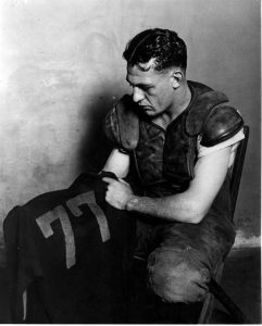 Red Grange, Illinois halfback, after his last game played for the University, circa 1925