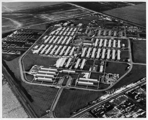 Aerial view of Galesburg campus, circa 1946