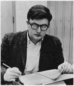 Film critic Roger Ebert was editory of the Daily Illini and leader of SCOPE, 1967