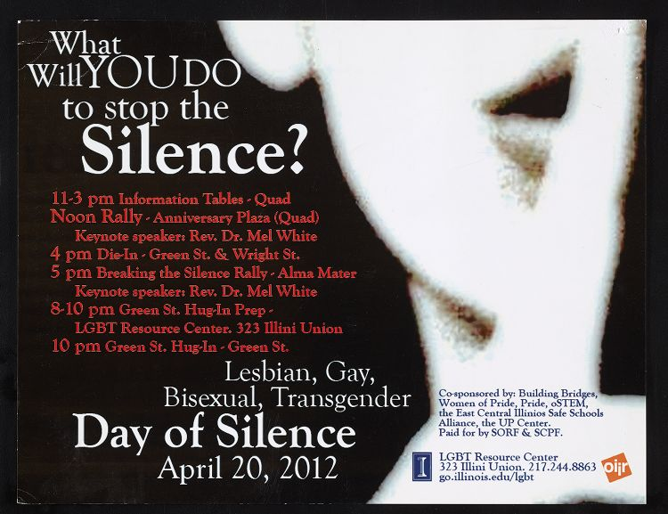 """What do YOU do to stop the Silence? Day of Silence, April 20, 2012"""