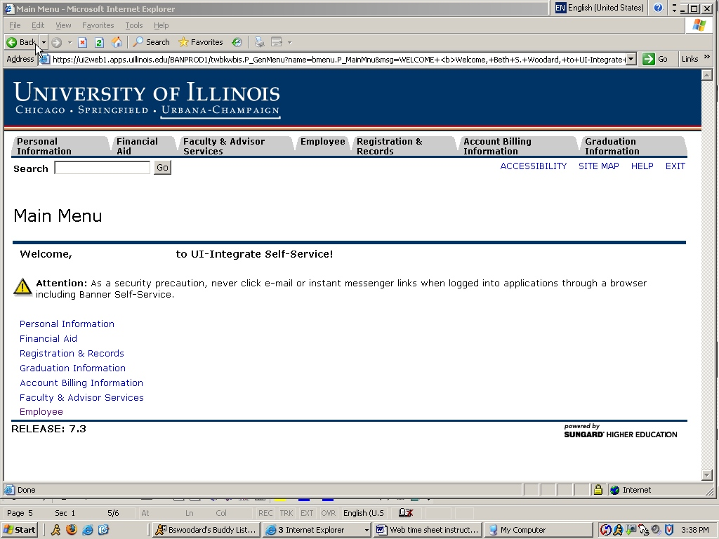 Web Time Sheet Instructions For Students Staff Website U Of I