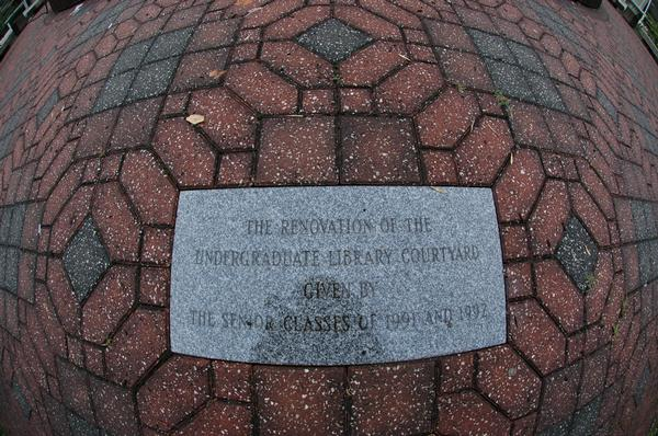 plaque in ugl courtyard