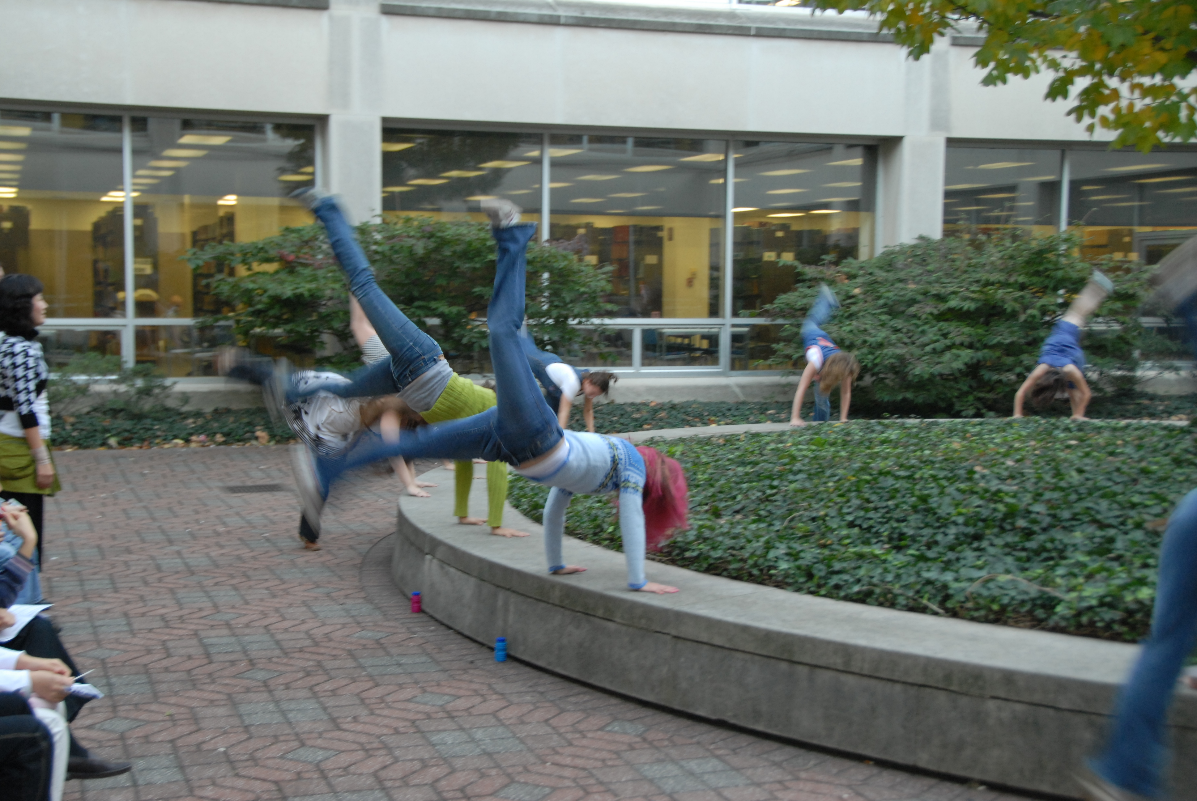 dance troup photo in ugl courtyard