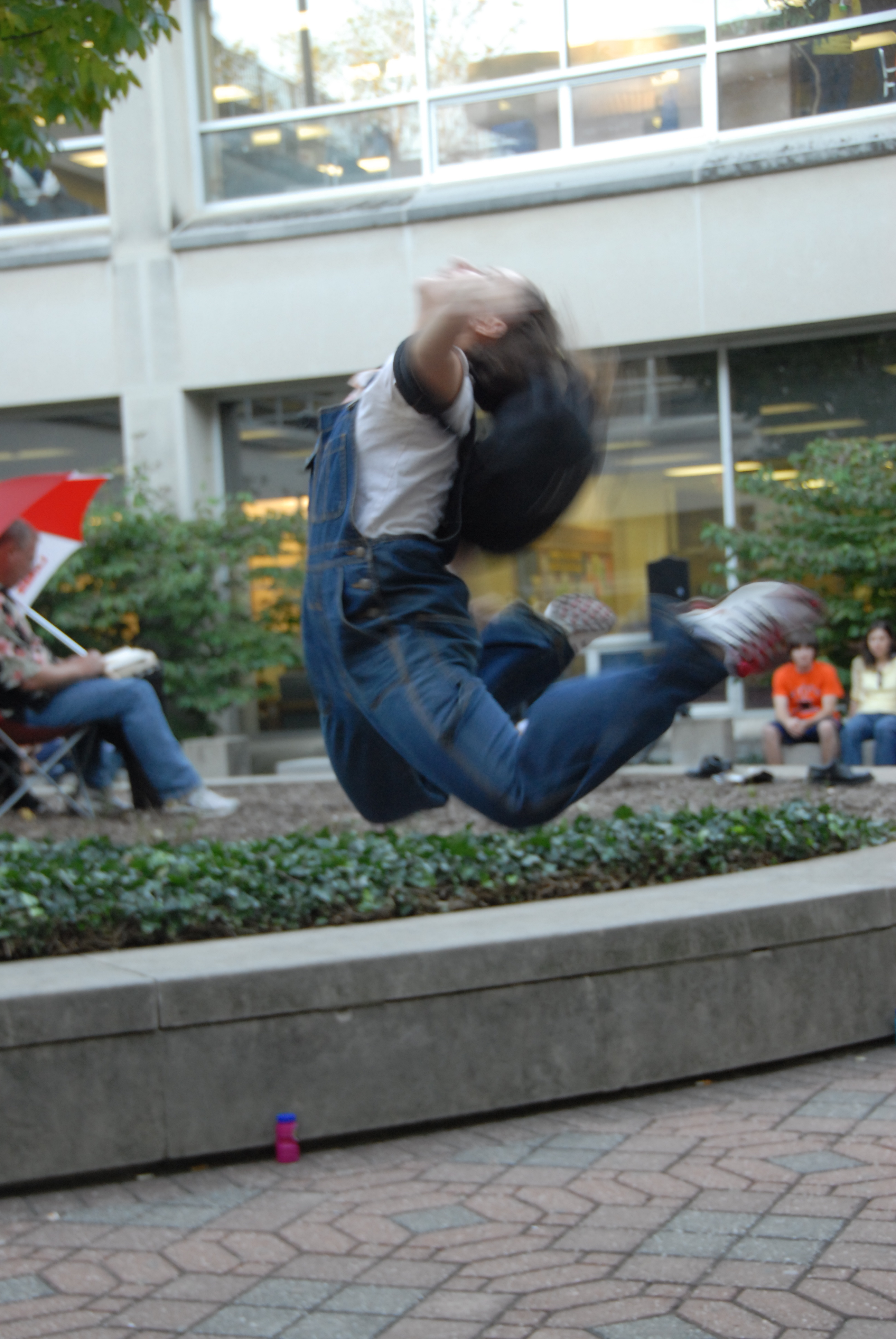 photo of dances in UGL courtyard
