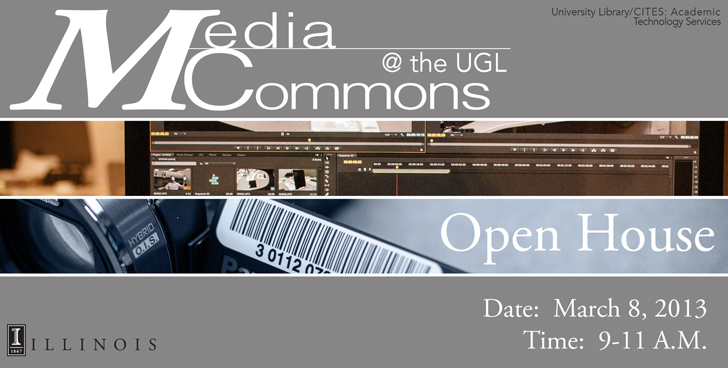 photo of media commons open house promo