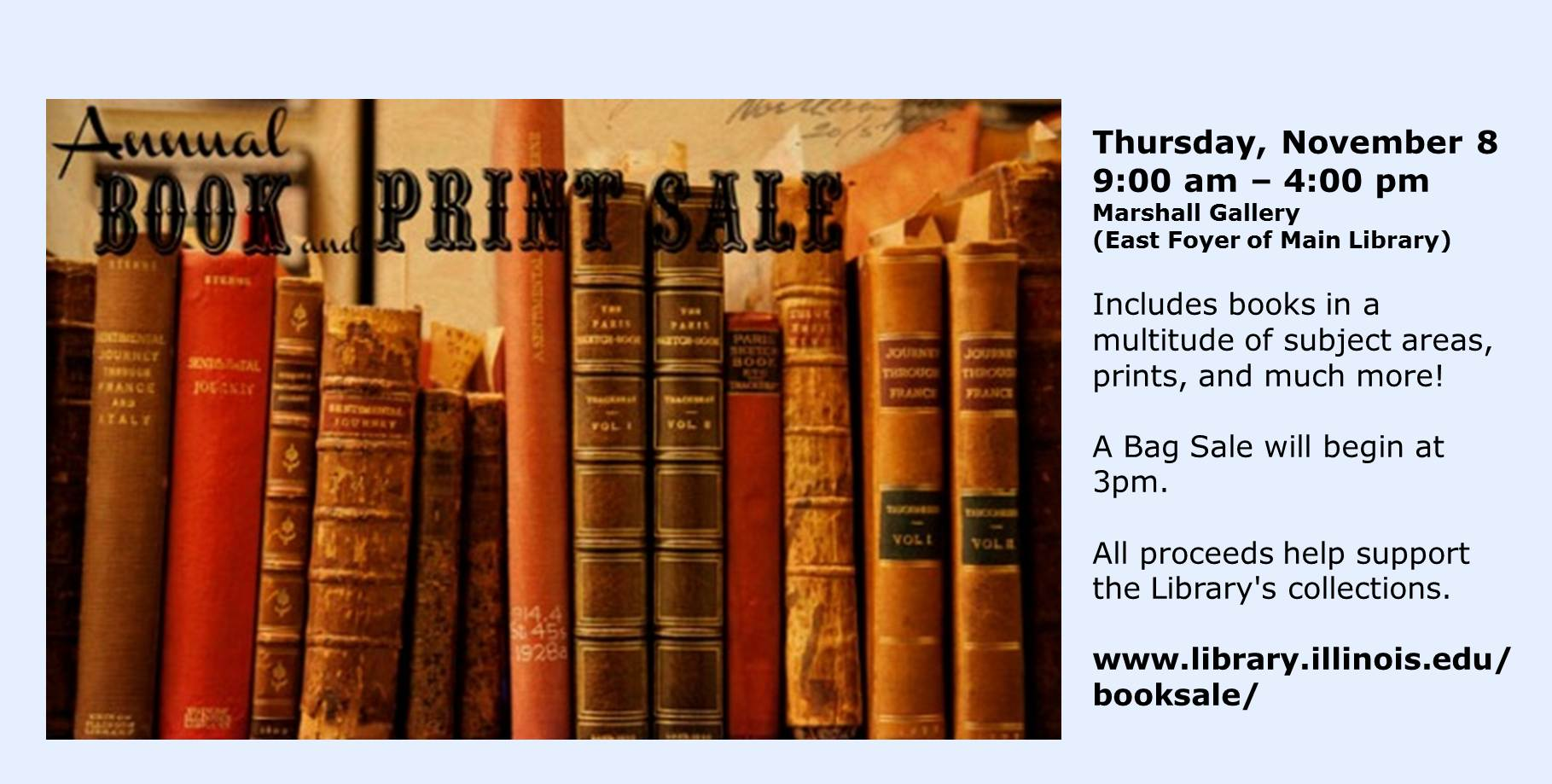 Library Book Sale Poster