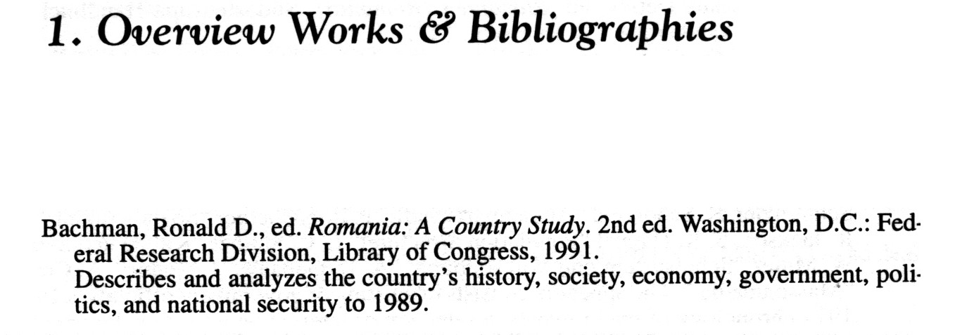 a sample entry from Ceausescu's Romania